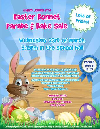Easter Bonnet Parade 2016_Poster